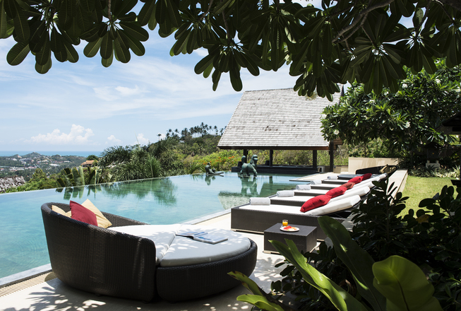 5 bedrooms hillside villa for rent on Koh Samui