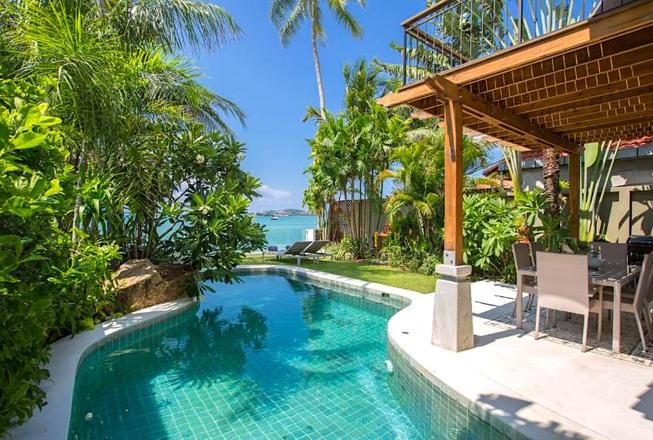 Beachfront villa with 3 bedrooms for rent in Bophut