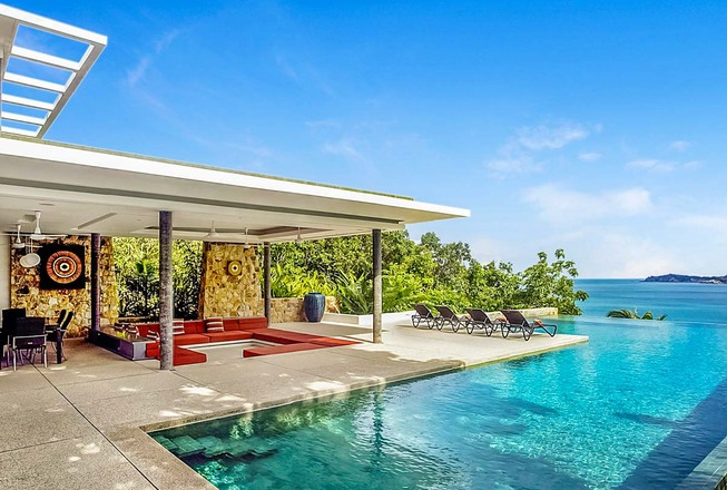 Luxury villa with seaview and 4 bedrooms for rent - Koh Samui Thailand
