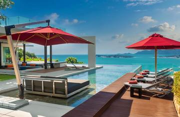 Breathtaking Seaview Villa with 4 Bedrooms for rent on Koh Samui