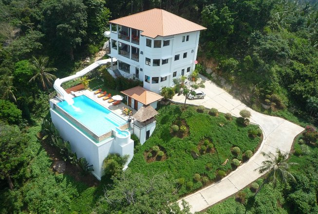Party villa with waterslide for rent - Koh Samui Thailand