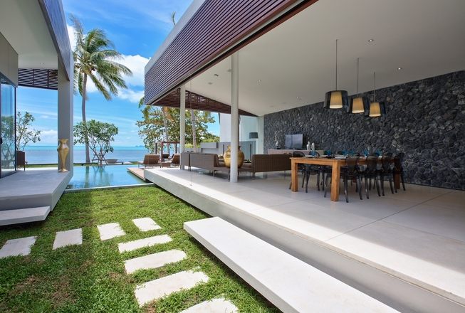 3 bedrooms modern villa on the beach - Koh Samui