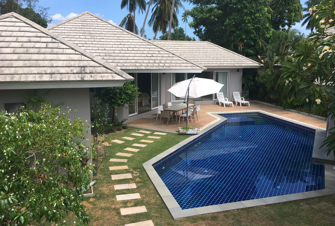 Romantic family beach villa in Lipa Noi for rent