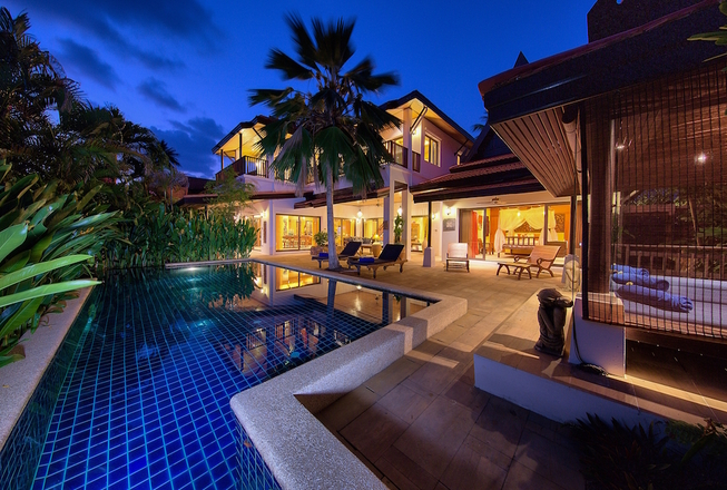 beachfront villa in Koh Samui for rent