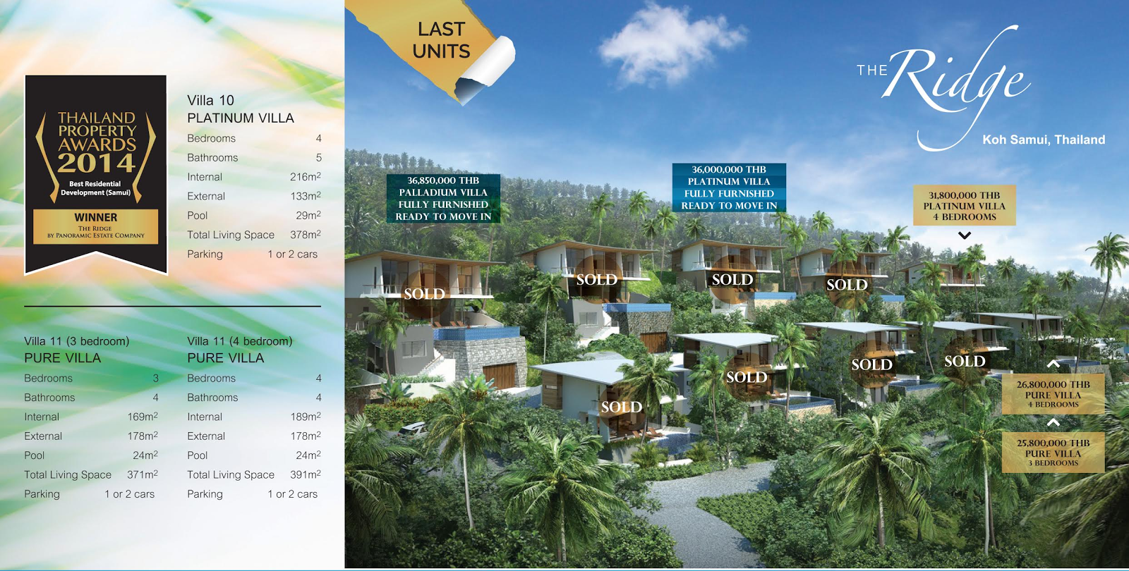 Ridge Villas for sale - prices