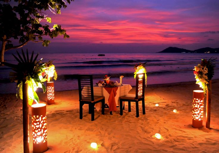Romantic dinner in Koh Samui Thailand