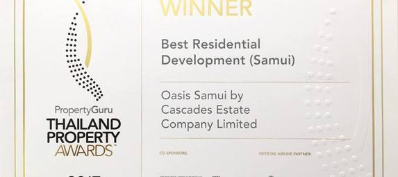 Best Residential Development Koh Samui2017 - Thailand Property Awards